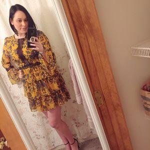 Mustard Yellow Bebe Dress